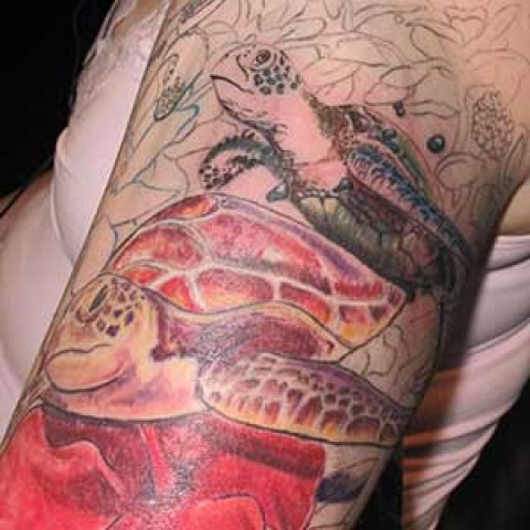 Photo Tutorial: turtle tattoo